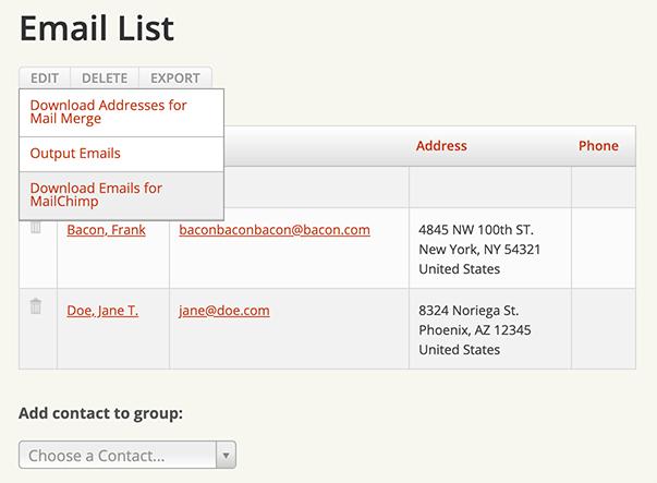 Downloading Emails For Mailchimp - Groups: User Guide: Karani - for