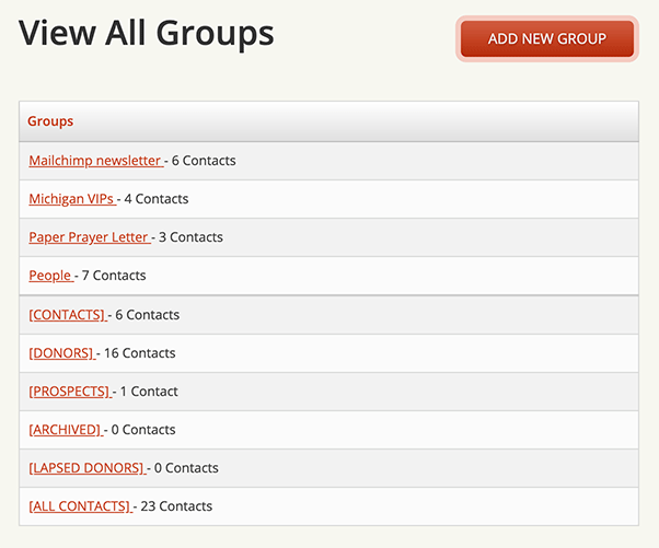 View All Groups